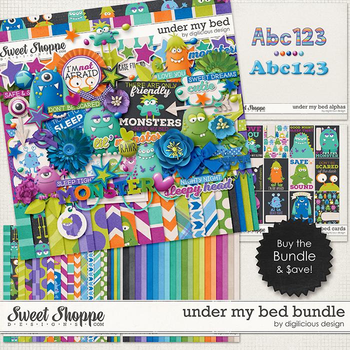 Under My Bed Bundle by Digilicious Design