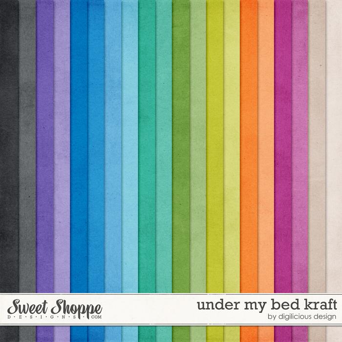Under My Bed Kraft by Digilicious Design