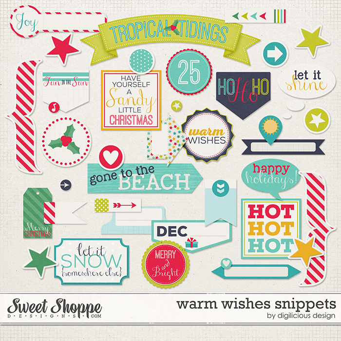 Warm Wishes Snippets by Digilicious Design