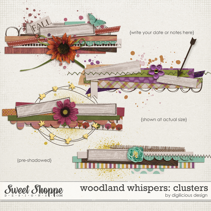 Woodland Whispers Clusters by Digilicious Design