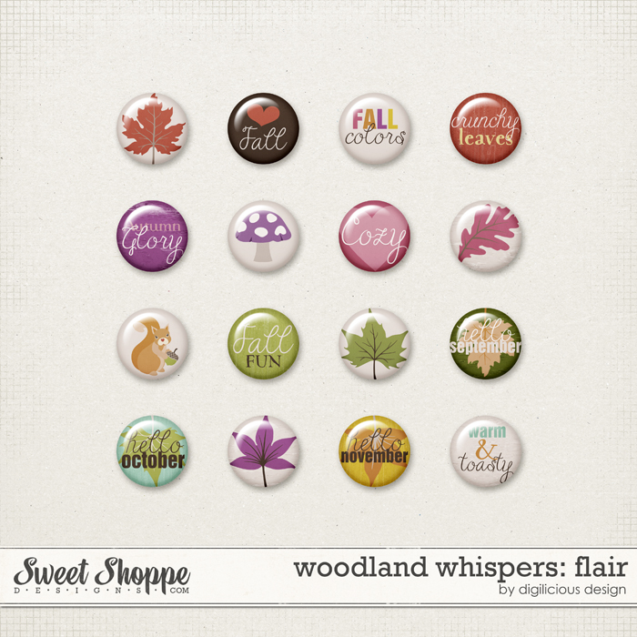 Woodland Whispers Flair by Digilicious Design