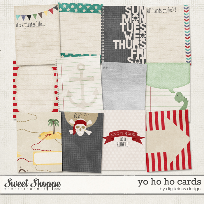 Yo Ho Ho Cards by Digilicious Design