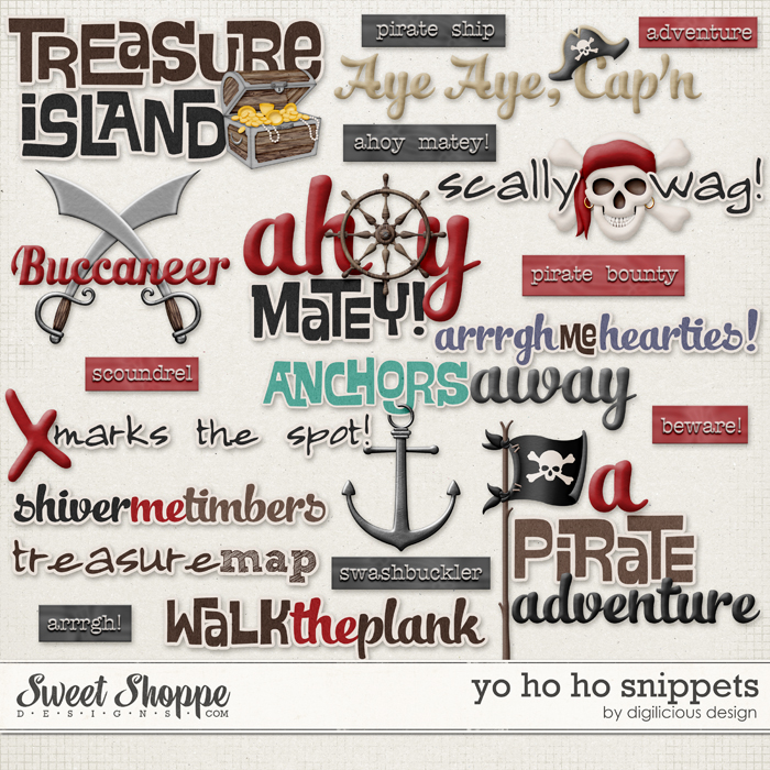 Yo Ho Ho Snippets by Digilicious Design