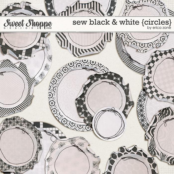Sew Black & White {Circles} by Erica Zane