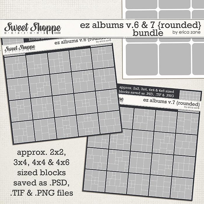EZ Albums v.6 & 7 {Rounded} Bundle by Erica Zane