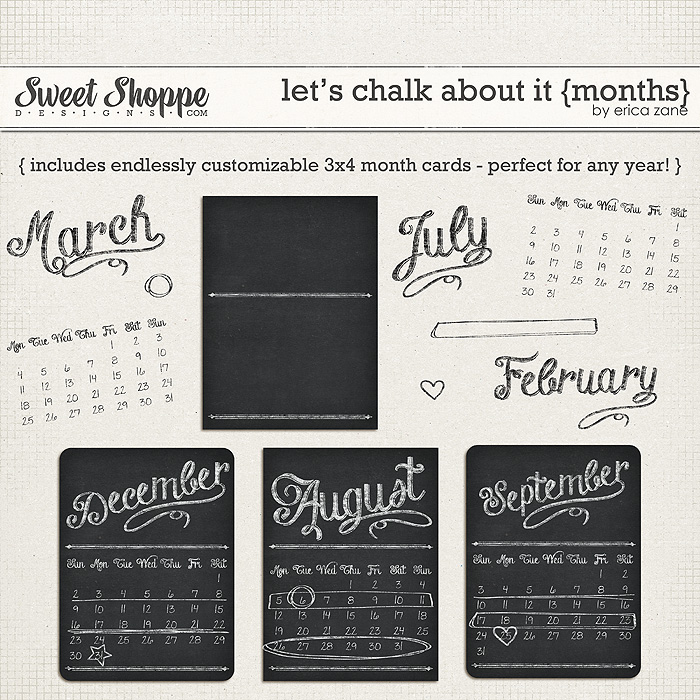 Let's Chalk About It {Months} by Erica Zane