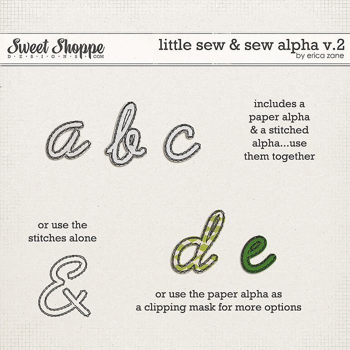 Little Sew & Sew Alpha v.2 by Erica Zane