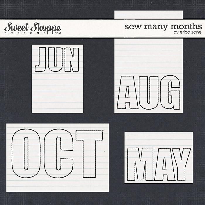 Sew Many Months by Erica Zane