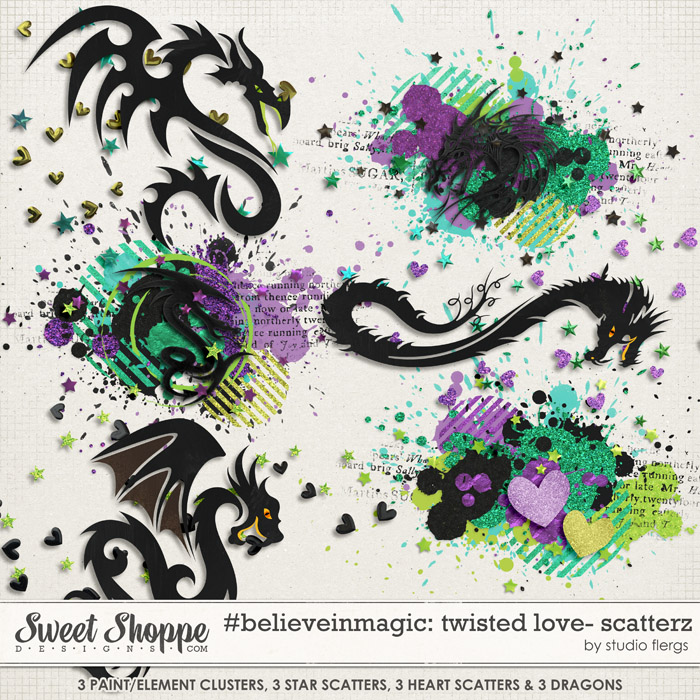 #believeinmagic: TWISTED LOVE SCATTERZ by Studio Flergs