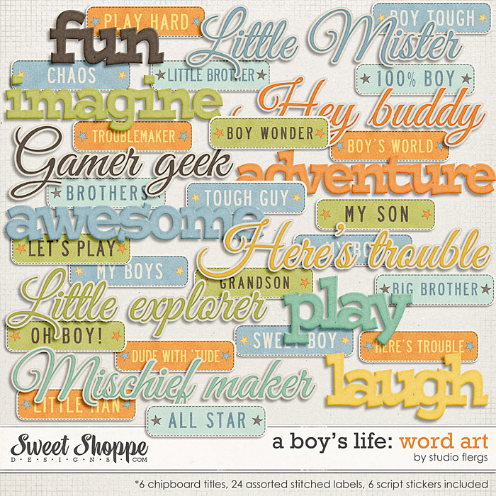 A Boy's Life: WORD ART by Studio Flergs