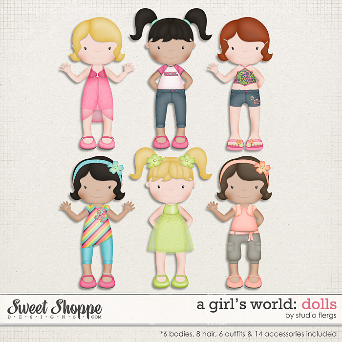 A Girl's World: DOLLS by Studio Flergs