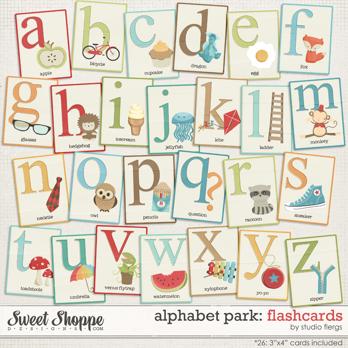 Alphabet Park: FLASHCARDS by Studio Flergs