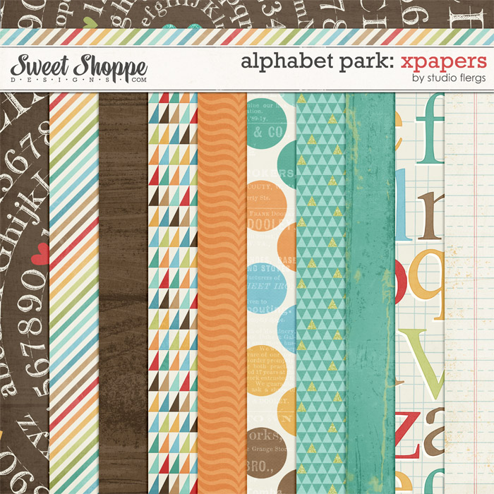 Alphabet Park: XPAPERS by Studio Flergs