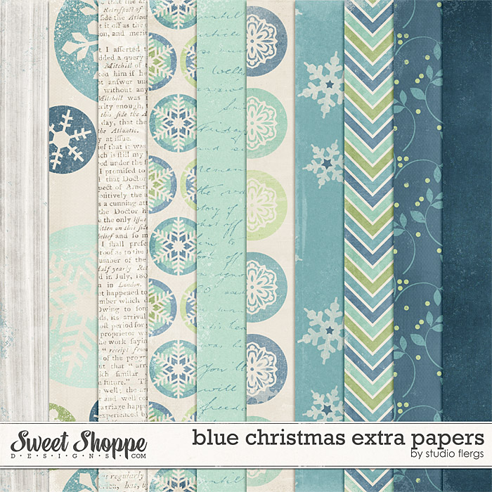 Blue Christmas: EXTRA PAPERS by Studio Flergs