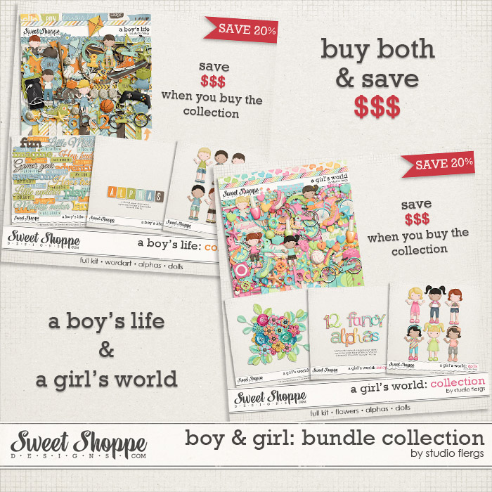 Boy & Girl: BUNDLE COLLECTION by Studio Flergs