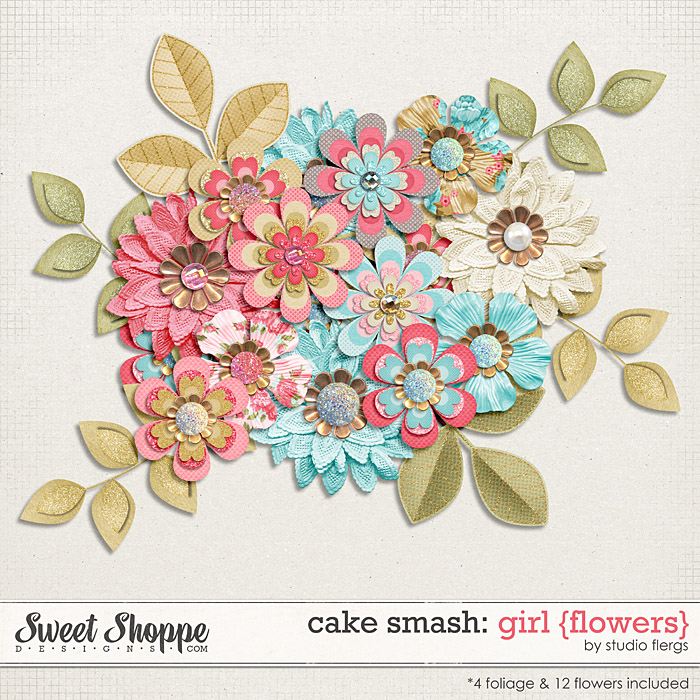 Cake Smash: GIRL {flowers} by Studio Flergs