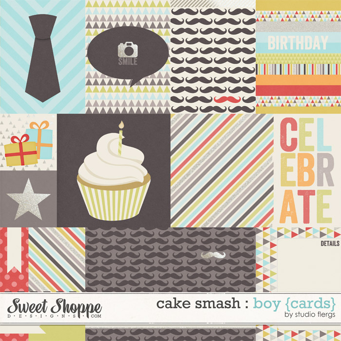 Cake Smash: BOY {cards} by Studio Flergs