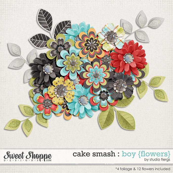 Cake Smash: BOY {flowers} by Studio Flergs