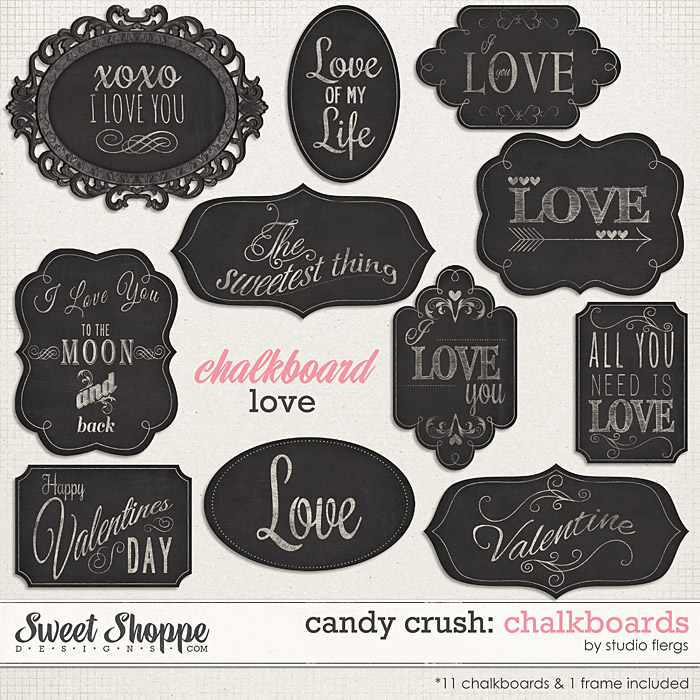 Candy Crush: CHALKBOARDS by Studio Flergs