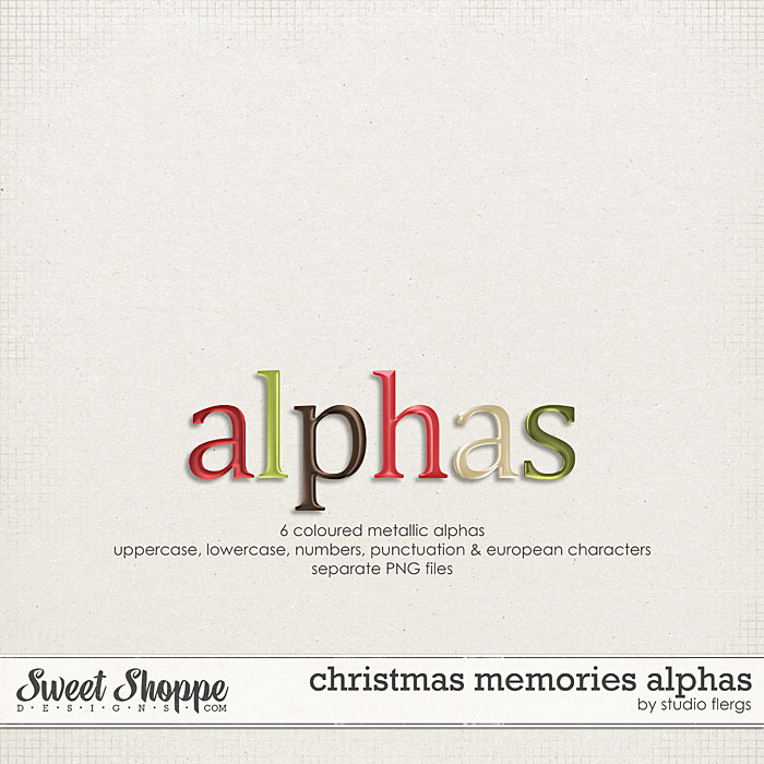 Christmas Memories: ALPHAS by Studio Flergs