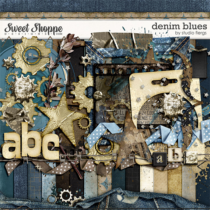 Denim Blues By Studio Flergs