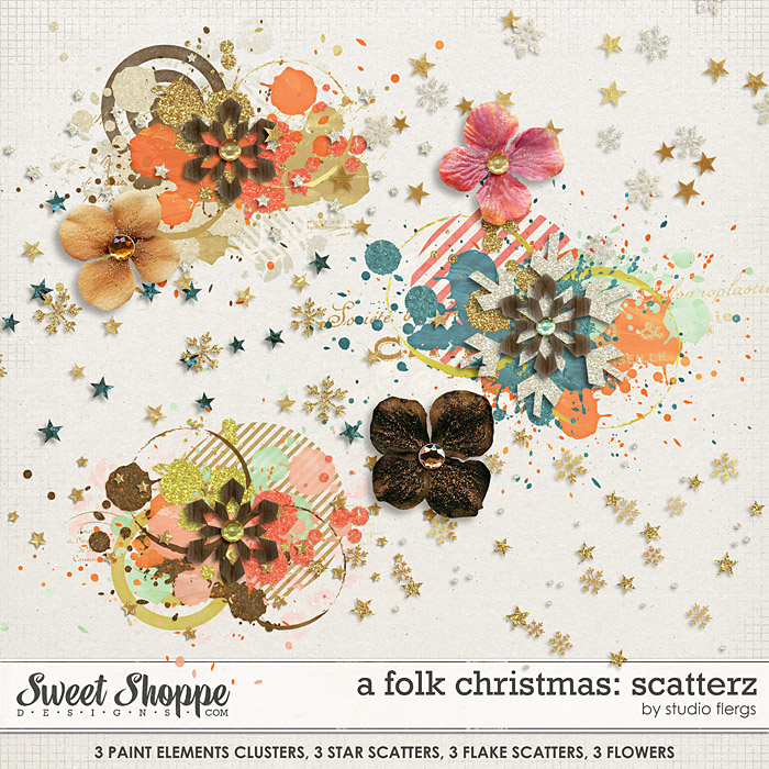 A Folk Christmas: SCATTERZ By Studio Flergs