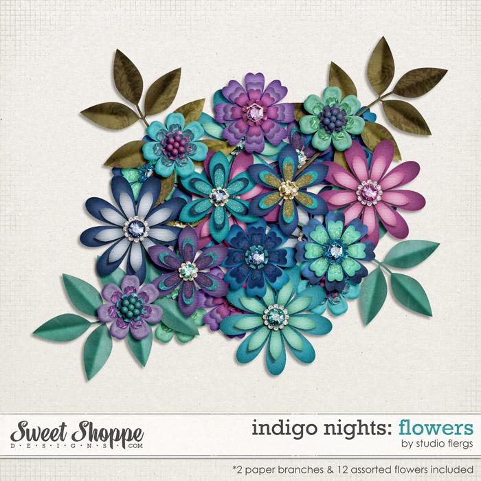 Indigo Nights: FLOWERS by Studio Flergs & Jennifer Labre