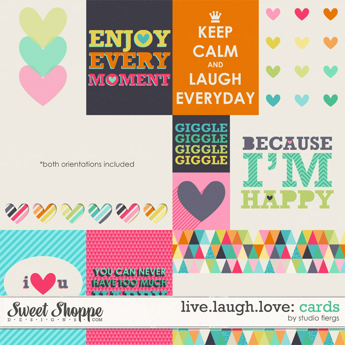 Live.Laugh.Love: CARDS By Studio Flergs