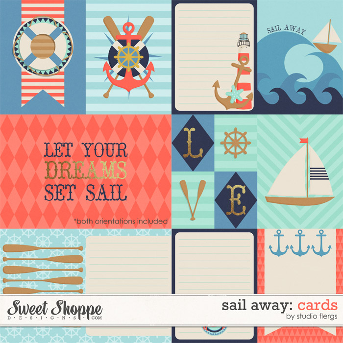 Sail Away: CARDS by Studio Flergs