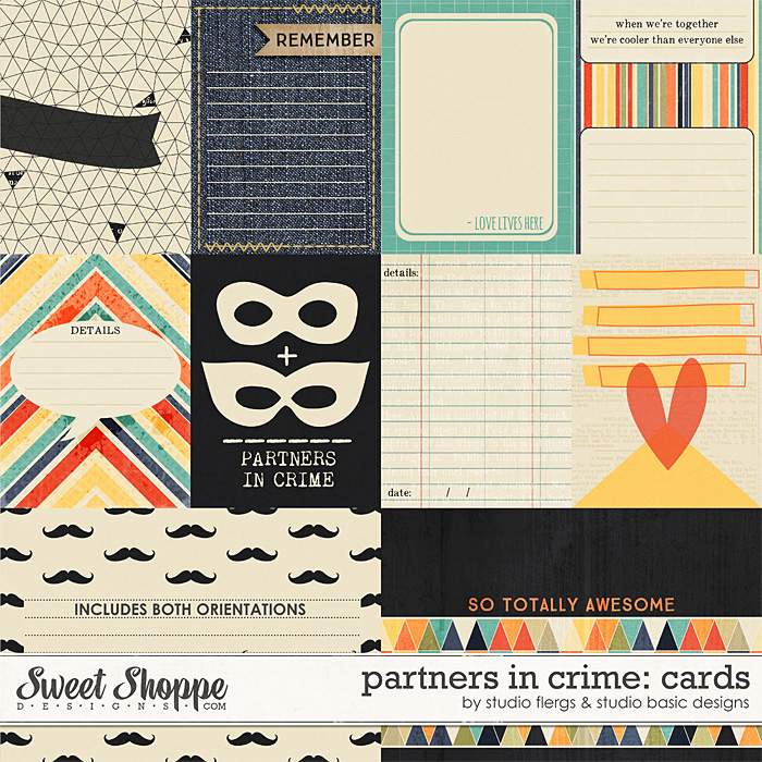 Partners in Crime: CARDS by Studio Flergs & Studio Basic Designs