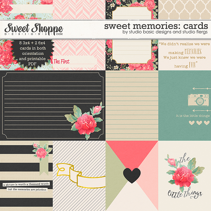 Sweet memories: CARDS by Studio Flergs & Studio Basic Designs