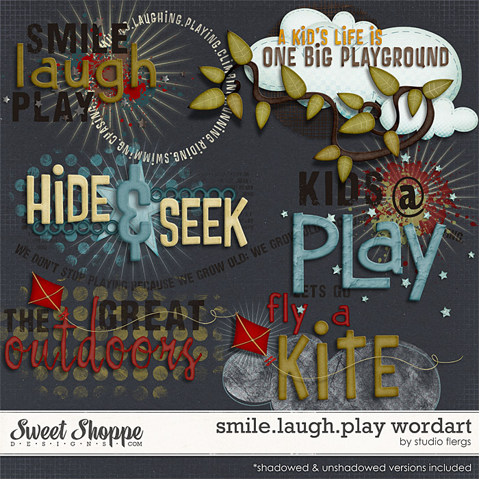 smile.laugh.play: WORDART by Studio Flergs