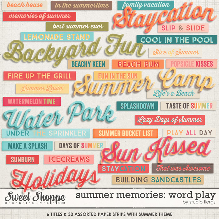Summer Memories: WORD PLAY by Studio Flergs