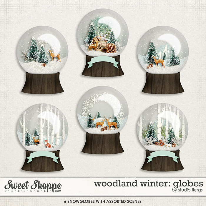 Woodland Winter: SNOW GLOBES by Studio Flergs