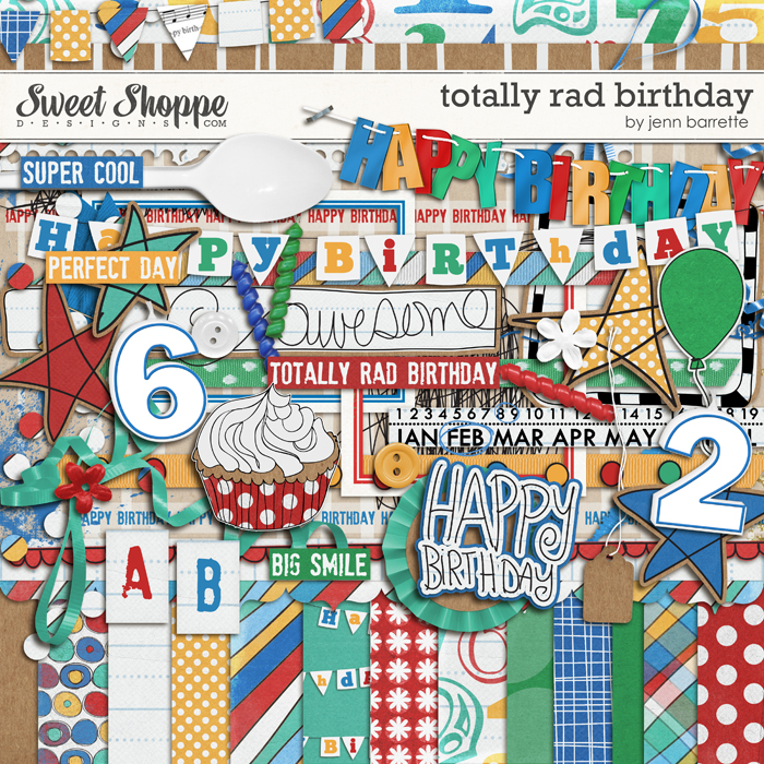 Totally Rad Birthday by Jenn Barrette