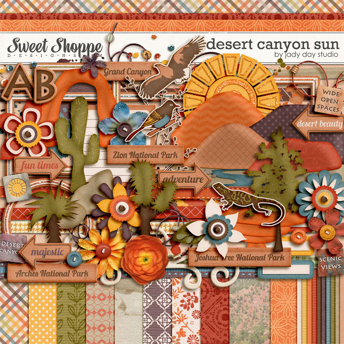 Desert Canyon Sun by Jady Day Studio