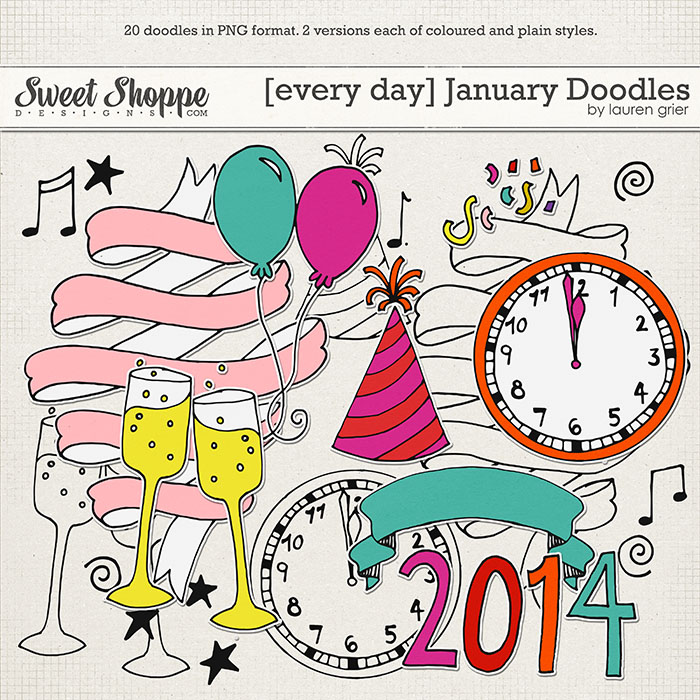 [Every Day] January Doodles by Lauren Grier