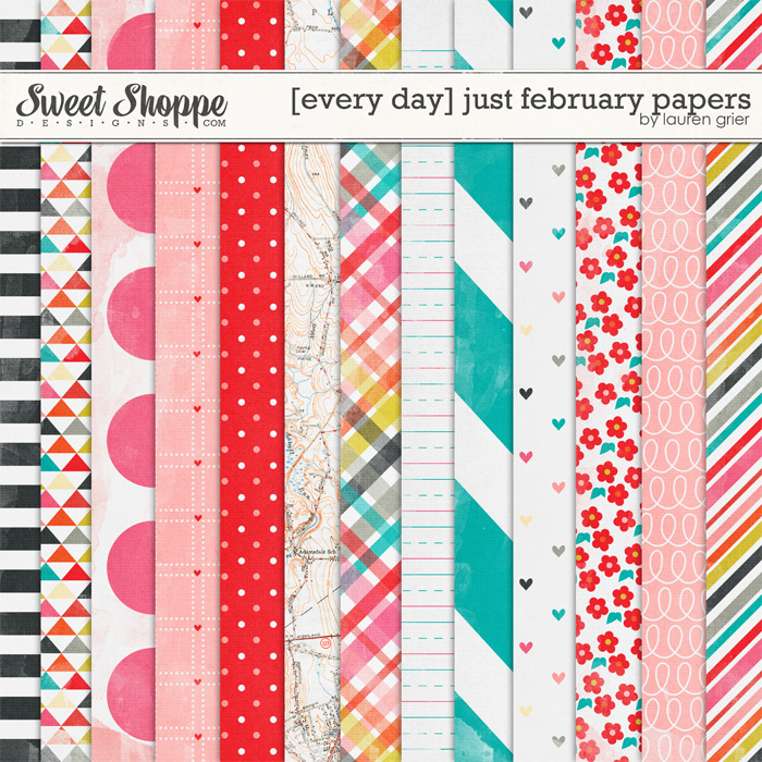 [every day] just february papers by lauren grier
