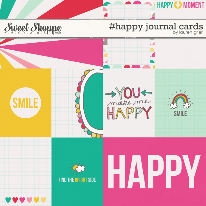 #happy journal cards by lauren grier