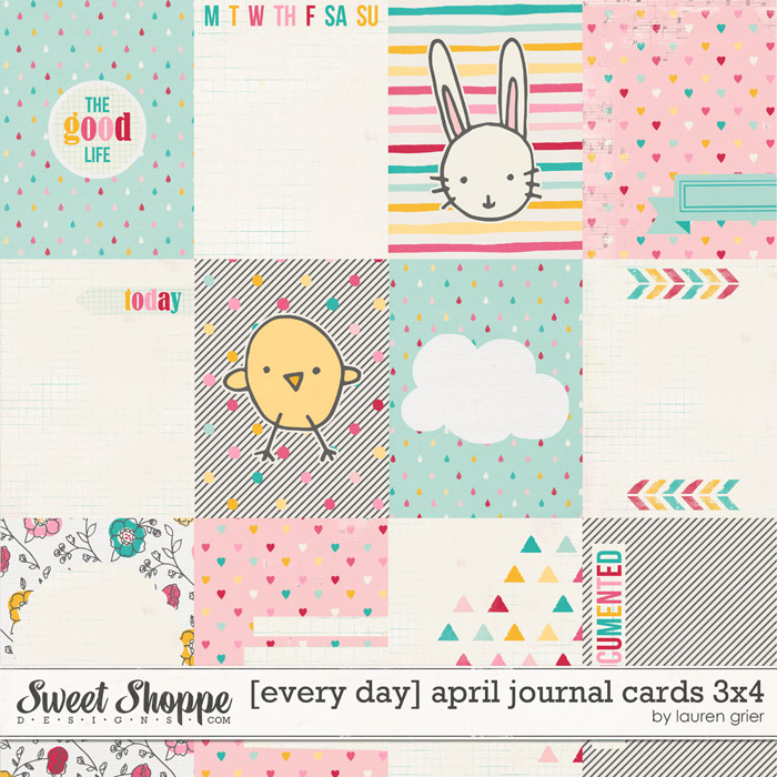 [every day] april journal cards 3x4