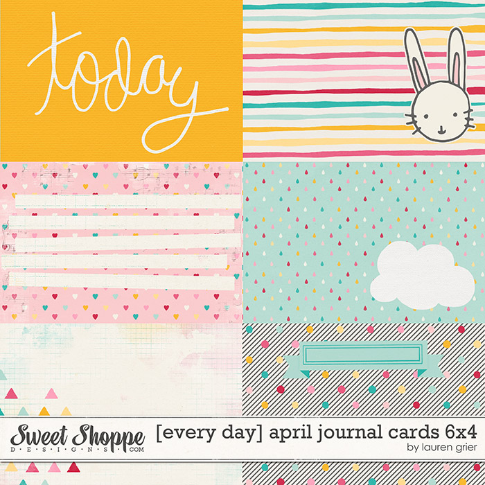 [every day] april journal cards 6x4 by lauren grier