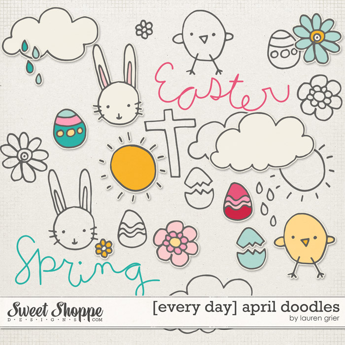 [every day] april doodles by lauren grier