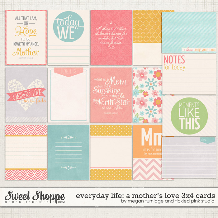Everyday Life: A Mother's Love 3x4 Cards by Megan Turnidge & Tickled Pink Studio