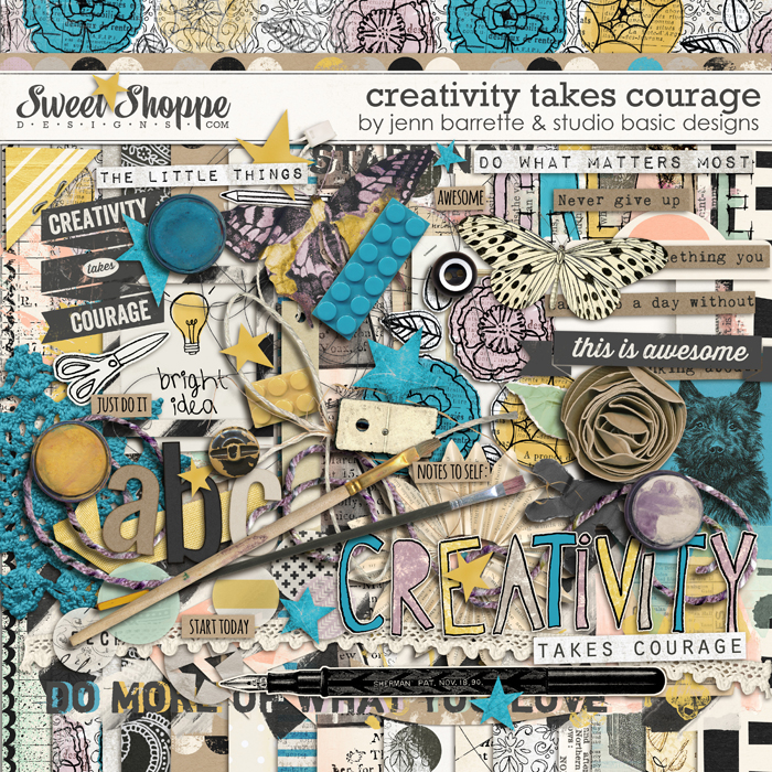 Creativity Takes Courage by Jenn Barrette and Studio Basic Designs