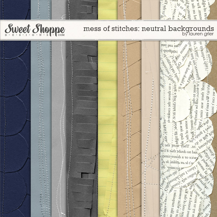 Mess of Stitches: Neutral Backgrounds by Lauren Grier