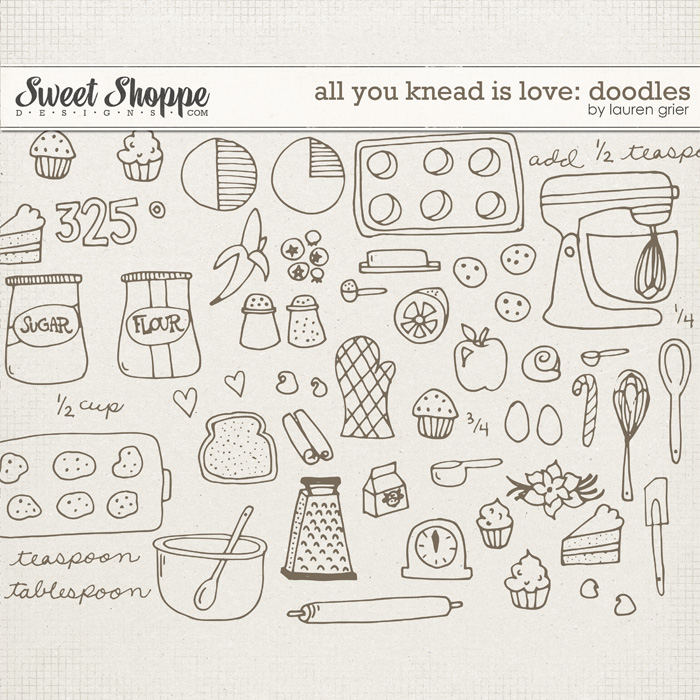 All You Knead is Love: Doodles by Lauren Grier