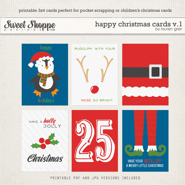 Happy Christmas Cards v.1 by lauren grier