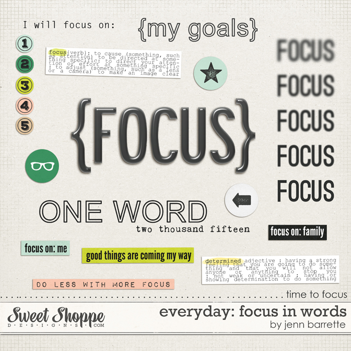 Everyday: Focus In Words by Jenn Barrette