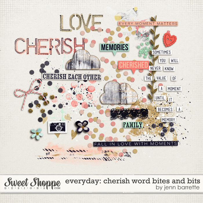 Everyday: Cherish Word Bites and Bits by Jenn Barrette