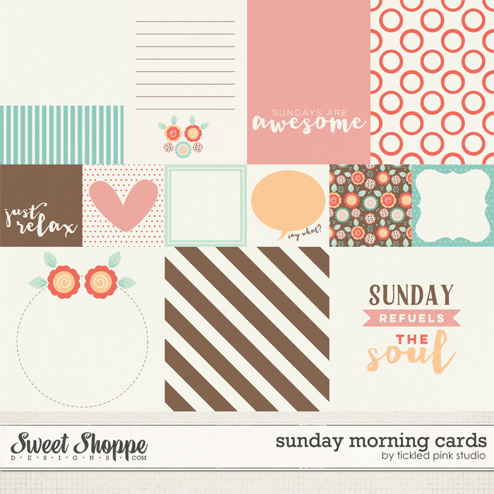 Sunday Morning Cards by Tickled Pink Studio